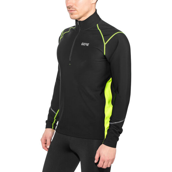 GORE WEAR R3 Thermo Longsleeve Zip Shirt black/neon yellow