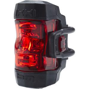 Busch + Müller IXXI Akku-Rücklicht LED silber/rot silber/rot