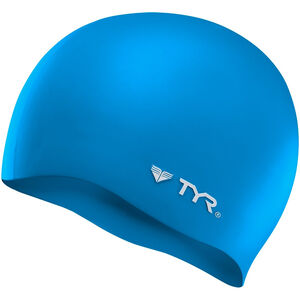 TYR Silicone Cap No Wrinkle blue blue