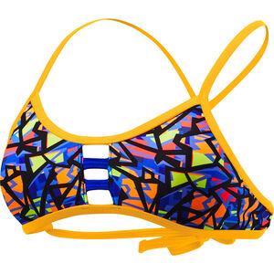 TYR Costa Mesa Pacific Tieback Bikini Top Women orange/purple