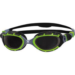 Zoggs Predator Flex Goggles Titanium Reactor black/green black/green