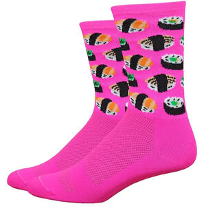 "DeFeet Aireator 6"" Socks sushi (hi-vis pink) sushi (hi-vis pink)"