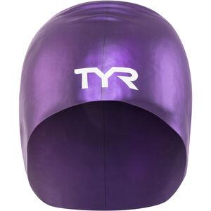 TYR Wrinkle-Free Long Hair Swimming Cap purple purple