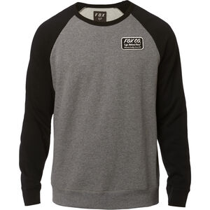 Fox Resin Crew Neck Fleece Pullover Herren heather graphite heather graphite