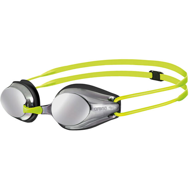 arena Tracks Jr Mirror Goggles Kinder silver-black-fluoyellow