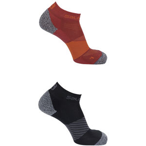 Salomon Speed Socks 2 Pack Biking Red/Black