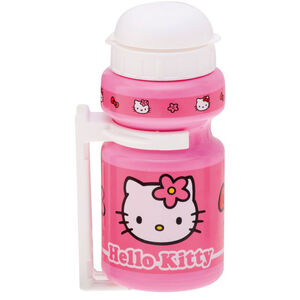 Bike Fashion Hello Kitty Trinkflasche 300ml mit Halter Mädchen pink pink