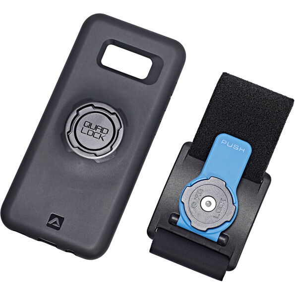 Quad Lock Run Kit - Samsung Galaxy S8+ schwarz/blau