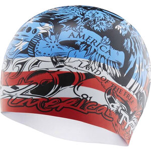 TYR Home of the Brave Swimming Cap red/white/blue red/white/blue