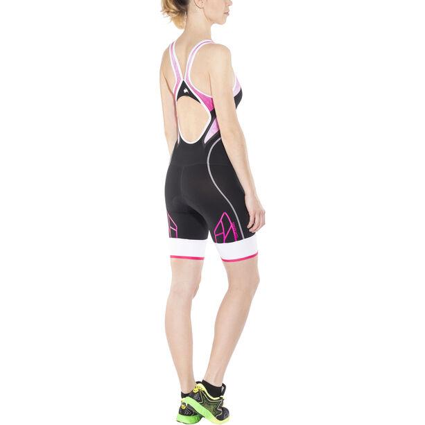 KiWAMi Spider Openback Trisuit Damen black/pink/white