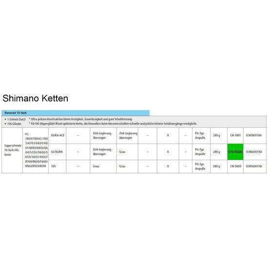 Shimano Ultegra CN-6600 Kette 10-fach bei fahrrad.de Online