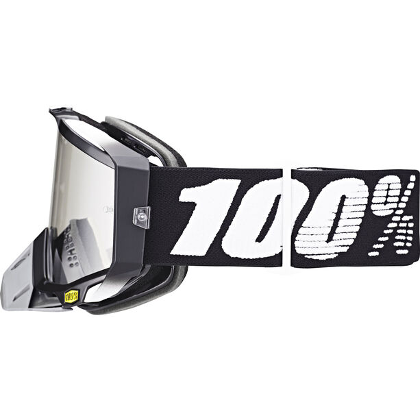 100% Racecraft Anti Fog Clear Goggles abyss black