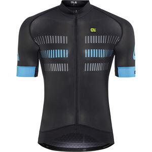 Alé Cycling Graphics PRR Strada Shortsleeve Jersey Herren black-cyan black-cyan