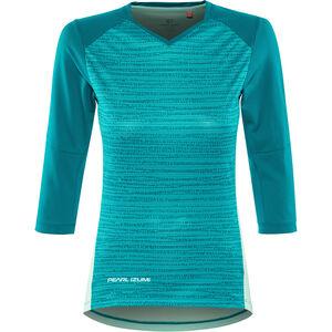 PEARL iZUMi Launch 3/4 Sleeve Jersey Damen teal/glacier vert teal/glacier vert