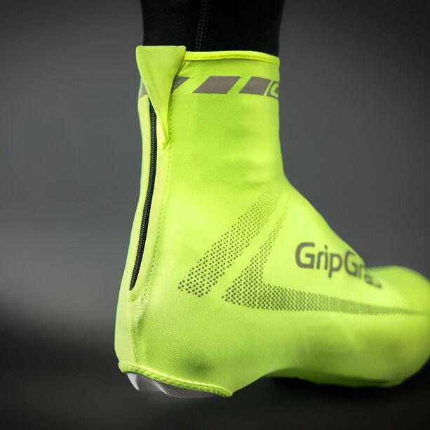 GripGrab RaceAero Hi-Vis Lightweight Lycra Shoe Cover yellow
