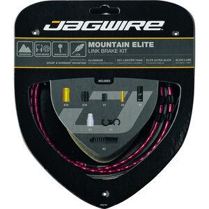 Jagwire Mountain Elite Link Bremszugset rot
