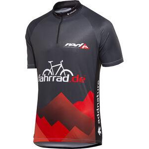 fahrrad.de Basic Team Jersey Herren schwarz/rot schwarz/rot