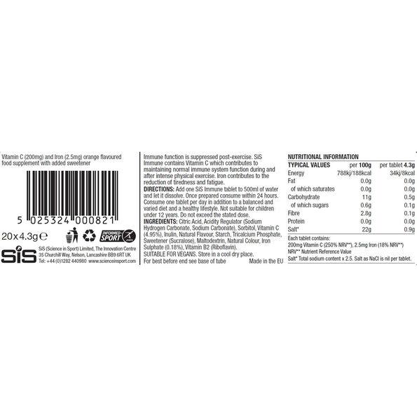 SiS Immune Hydro Tabs 20x4g Orange