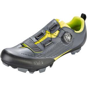 Fizik Terra X5 MTB Schuhe Herren grau/gelb fluo grau/gelb fluo