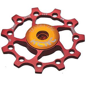 KCNC Jockey Wheel 10 Zähne ceramic bearing red red