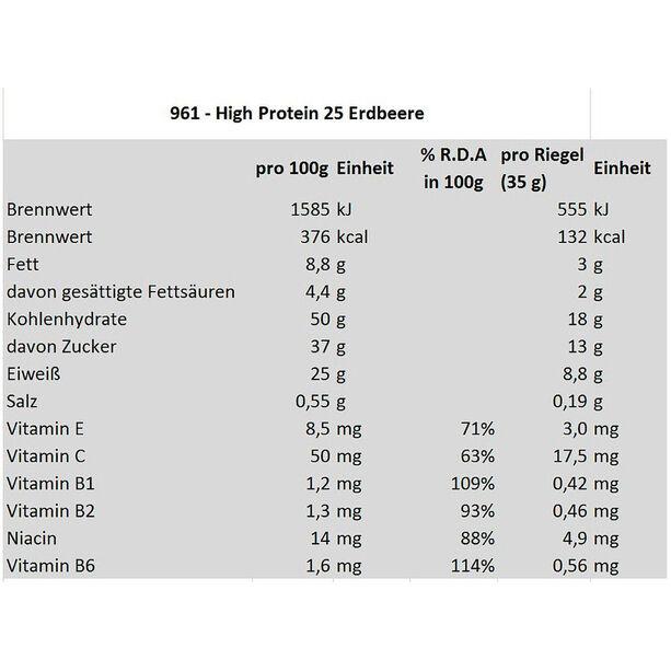 Isostar High Protein 25 Bar Box 30x35g Erdbeere