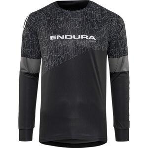 Endura MT500 Print Trikot langarm Herren schwarz schwarz