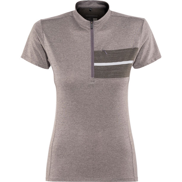 Shimano Transit Pavement Shortsleeve Jersey Damen shark