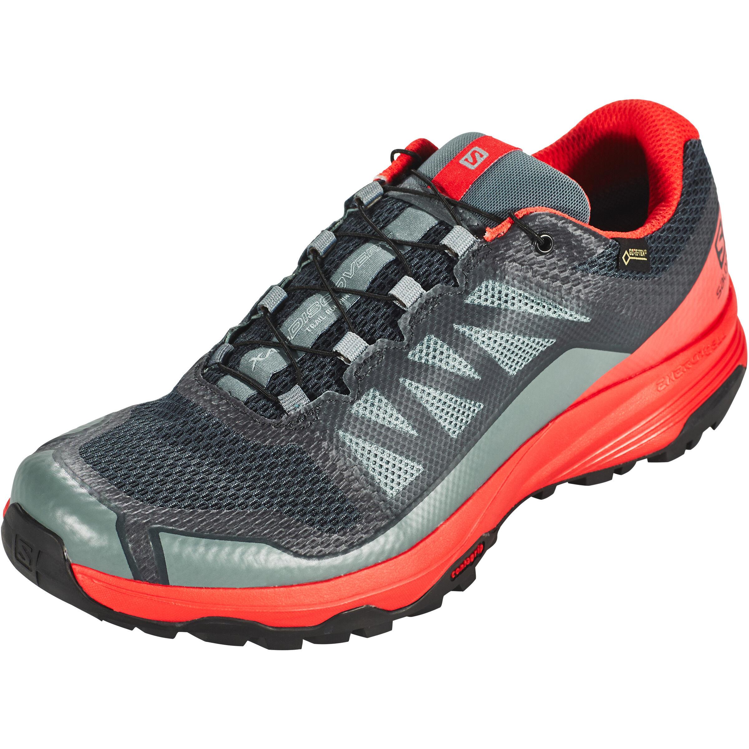 Salomon XA Discovery GTX Shoes Herren stormy weatherhigh risk redblack