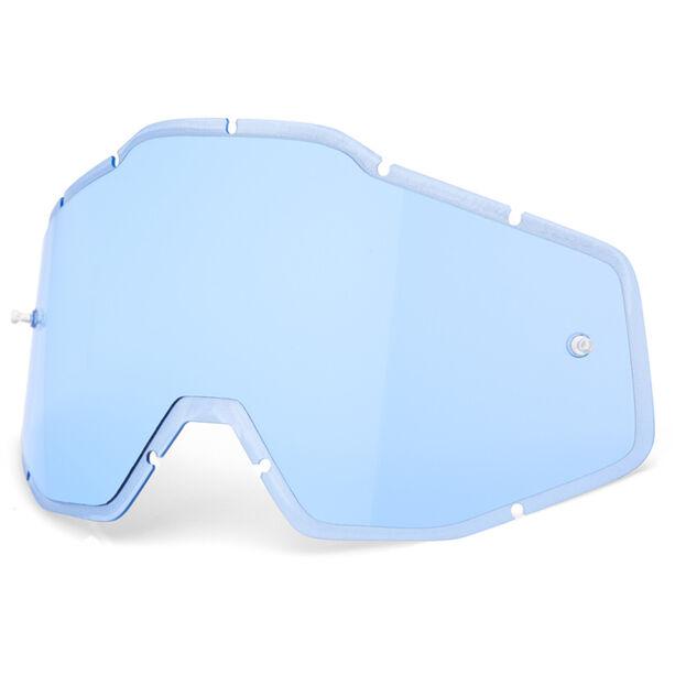 100% Anti-Fog F. Injected Lenses Racecraft/Accuri/Strata blue