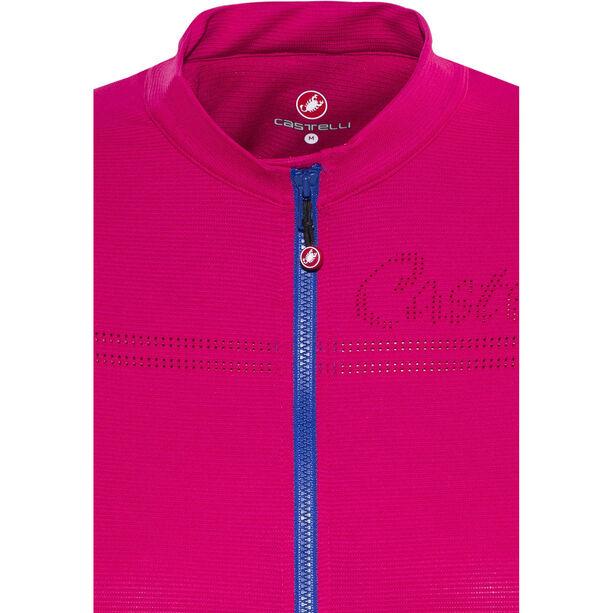 Castelli Promessa 2 FZ Jersey Damen raspberry/matte blue