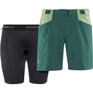 Ziener Nariam X-Function Shorts Damen spruce green spruce green