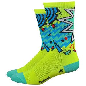 "DeFeet Aireator 6"" Socks shazam/hi-vis yellow/celeste green/blue shazam/hi-vis yellow/celeste green/blue"