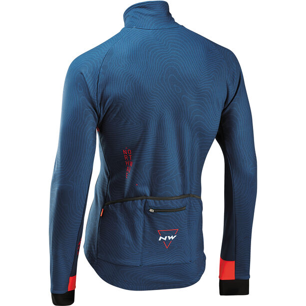 Northwave Blade 3 Jacke Total Protection Herren blue/lobster orange