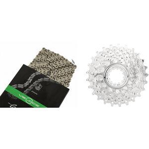 CAMPAGNOLO Veloce Kassette 12-23 & Veloce Kette 10-fach Kassette Bundle