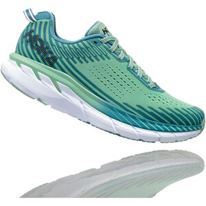 Hoka One One Clifton 5 Running Shoes Women Lichen/Storm Blue