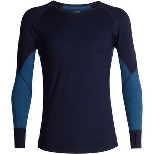 Icebreaker 260 Zone LS Crew Shirt Men Midnight Navy/Prussian Blue
