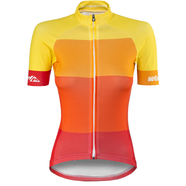 Red Cycling Products Colorblock Race Set Damen red-yellow