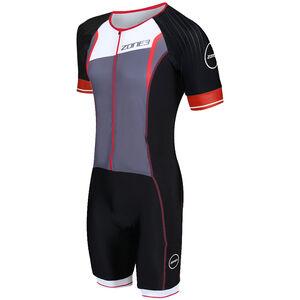 Zone3 Lava Long Distance Full-Zip SS Trisuit Herren black/red/white black/red/white
