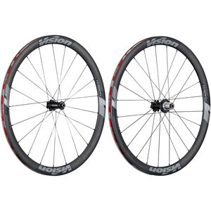 FSA Vision Trimax Carbon 40 Laufradsatz Clincher Shimano 6B Disc schwarz/grau schwarz/grau