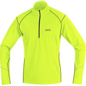 GORE WEAR R3 Thermo Long Sleeve Zip Shirt Men neon yellow/black bei fahrrad.de Online
