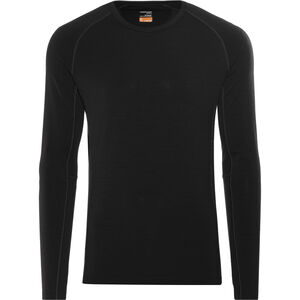 Icebreaker Zone LS Crewe Shirt Men black/monsoon
