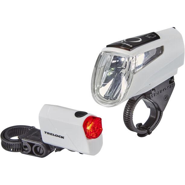 Trelock LS 460 I-GO POWER+LS 720 Akkubeleuchtung Set weiß