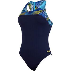 Zoggs Spiro Zippedback Swimsuit Women navy/multi bei fahrrad.de Online