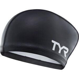 TYR Silicone Comfort Long Hair Swimming Cap black black