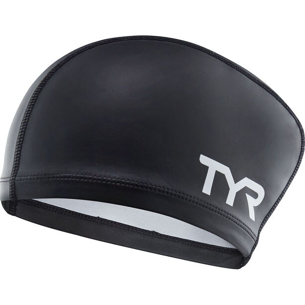 TYR Silicone Comfort Long Hair Swimming Cap black