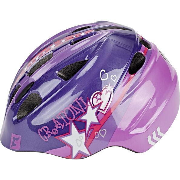 Cratoni Akino Helmet Kinder purple-pink glossy