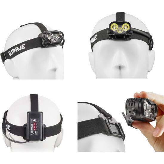 Lupine Blika RX 4 SmartCore Stirnlampe schwarz bei fahrrad.de Online