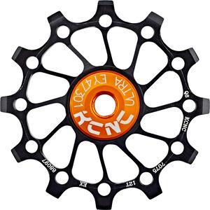KCNC Jockey Wheel SS Bearing Narrow Wide Long Teeth 12 Zähne black black