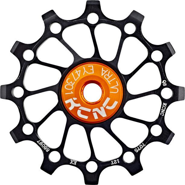 KCNC Jockey Wheel SS Bearing Narrow Wide Long Teeth 12 Zähne black