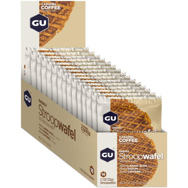 GU Energy Stroop Waffel Box 16x32g Caramel Coffee